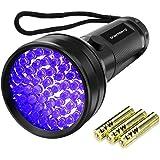 UV Flashlight Black Light, Vansky 51 LED Ultraviolet Blacklight Pet Urine Detector For Dog/Cat Urine,Dry Stains,Bed Bug, Matching with Pet Odor Eliminator(3AA Batteries Included)