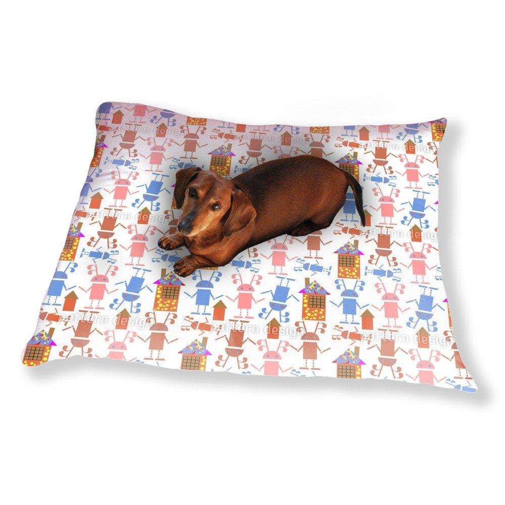 Robot Invadors Dog Pillow Luxury Dog / Cat Pet Bed