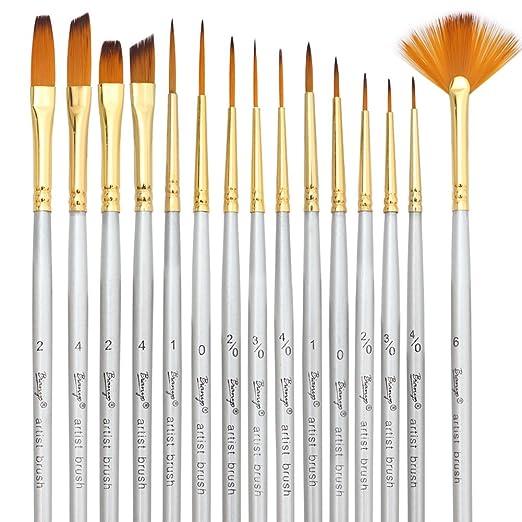 Size 4 Script Liner Silver Brush 1507S-4 Silverwhite Short Handle White Taklon Brush