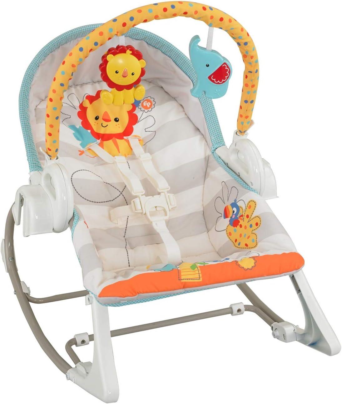 Fisher-Price Columpio hamaca 3 en 1, para bebé recién nacido (Mattel BFH07)