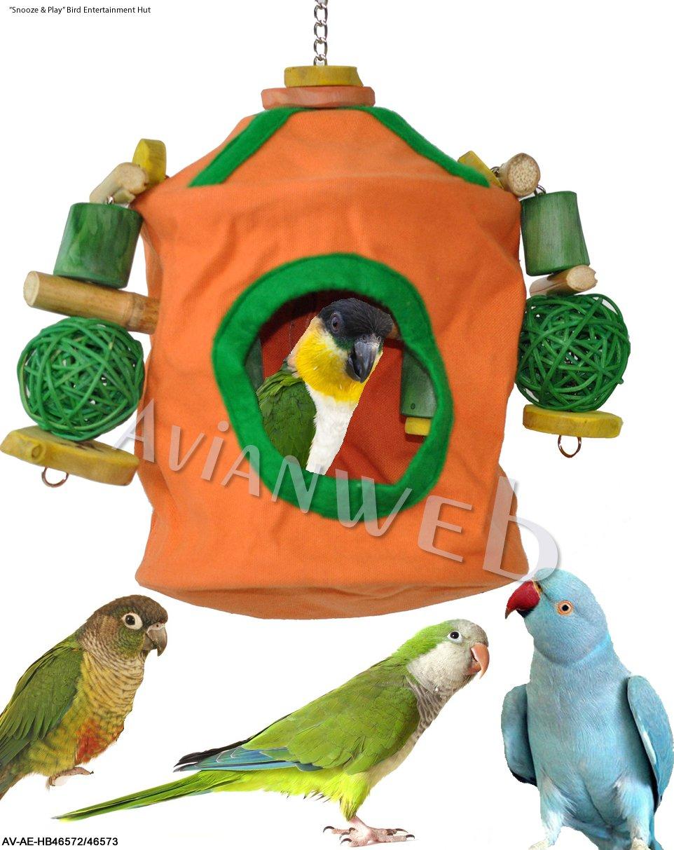 Snooze & Play pájaro cobijo Hut & Masticar juguete Combo - mejor pájaro producto ganador en el 2010/2011 superzoo Trade Show: Amazon.es: Hogar