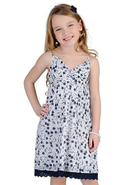 TOMMY HILFIGER - Vestido Savannah Flower, chica, Color: blanco/azul marino,