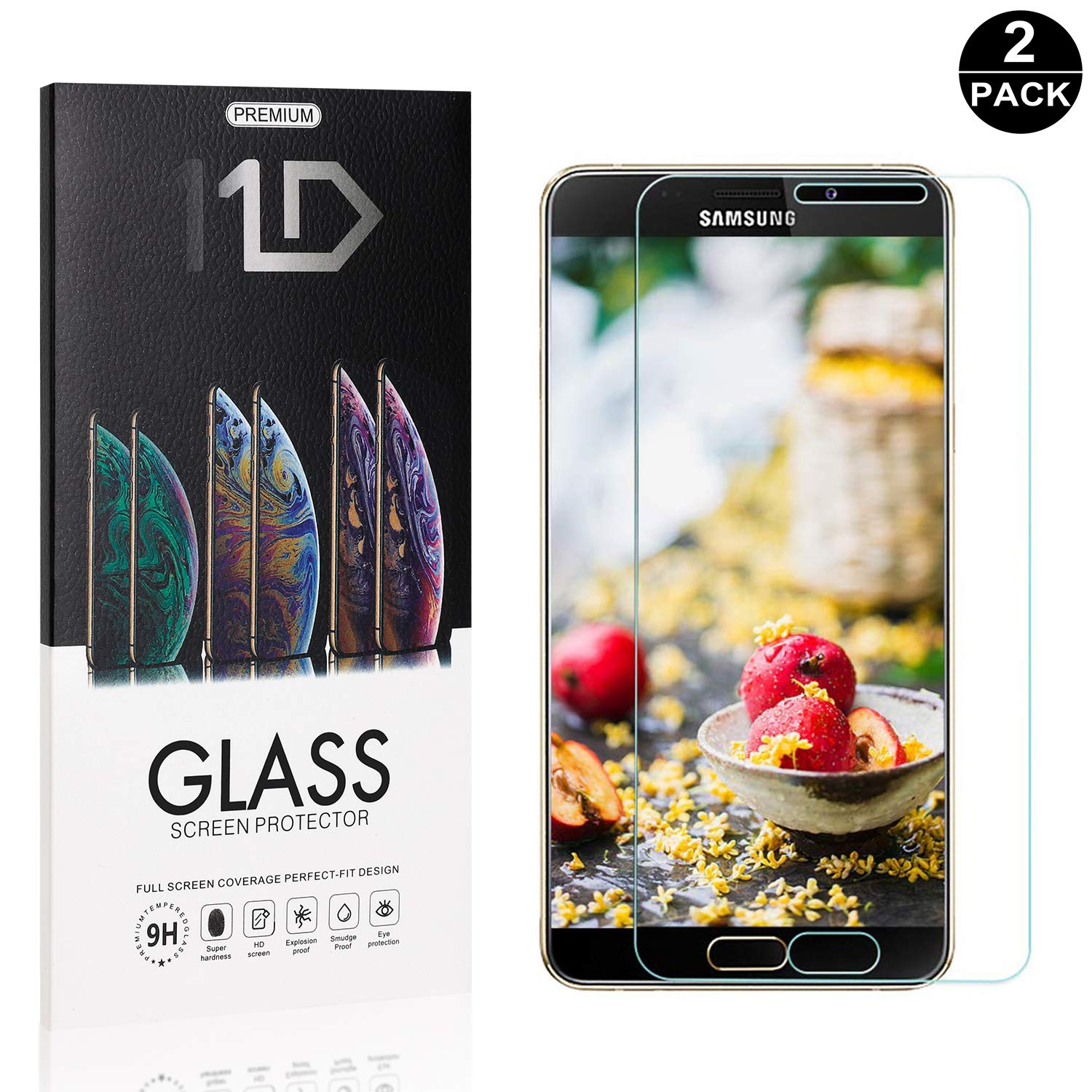 2 Pack UNEXTATI HD Clear Tempered Glass Screen Protector for Samsung Galaxy A9 Star Galaxy A9 Star Screen Protector