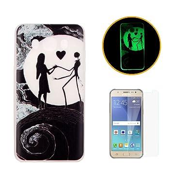 CaseHome Compatible with Case Samsung Galaxy J5 (2016)/J510 Luminoso Funda Transparente Claro Suave Flexible Caucho Parachoque Gelatina Gel de ...