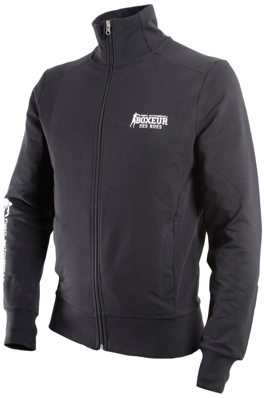 BOXEUR DES RUES Fight Activewear Felpa, Uomo, Full Zip BXT-4476