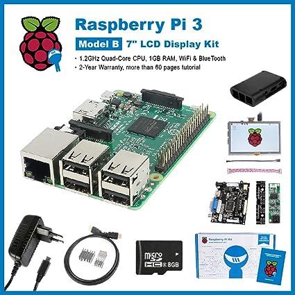 SainSmart Raspberry Pi 3 completa LCD Kit de: 7 pulgadas ...