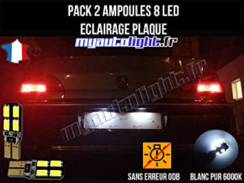 Pack Bombillas LED iluminación placa para Peugeot 406: Amazon.es: Coche y moto