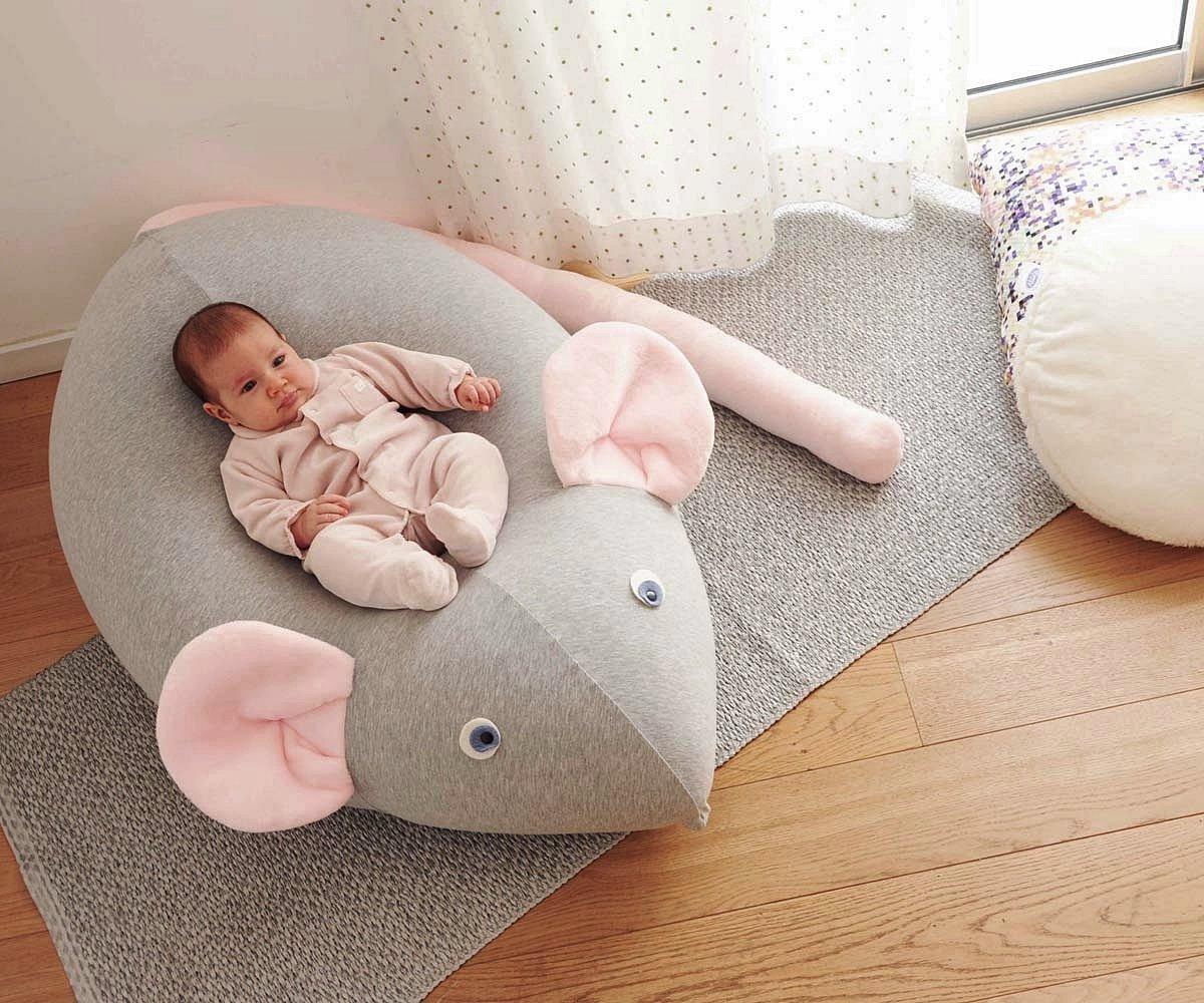 Miraculous Amazon Com Huge Mouse Beanbag Pillow Baby Bean Bag Kids Creativecarmelina Interior Chair Design Creativecarmelinacom