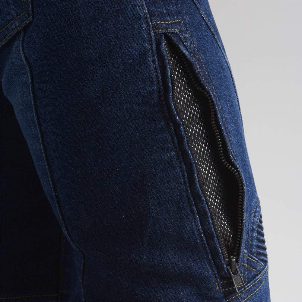 MAXLER JEAN Biker Jeans for women Motorcycle Motorbike riding Jeans 608 Blue 34