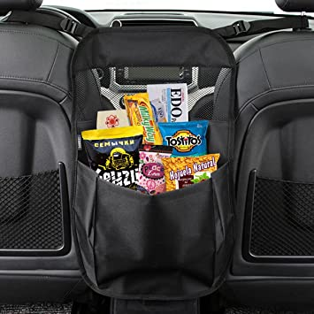 matcc car seat back organizer seat partition storage bag seat central storage seat kids toy storage
