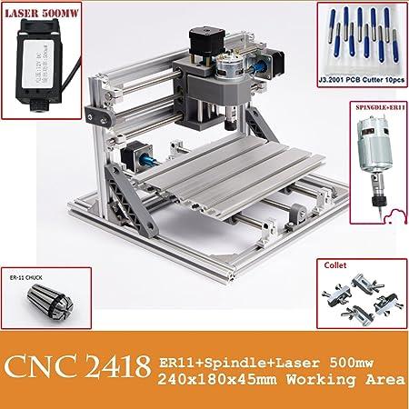 Mini Diy CNC2418 +500 mw Laser GRBL control,3Axis pcb pvb Milling