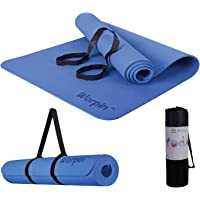 WORPIN, Esterilla Deporte Yoga Pilates Fitness Colchoneta Gimnasia Antideslizante, 183x61cm con Funda y Correa de Hombro…