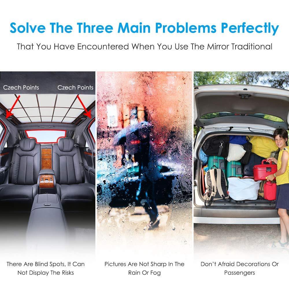 anteriore e posteriore 120/&d grandangolo 170/° Dashcam 1080p fotocamera posteriore 720p supporta modulo GPS Starlight Specchietto retrovisore per auto IPS extra DB POWER/® 5,5 pollici con visione notturna touchscreen Streaming Dashcam