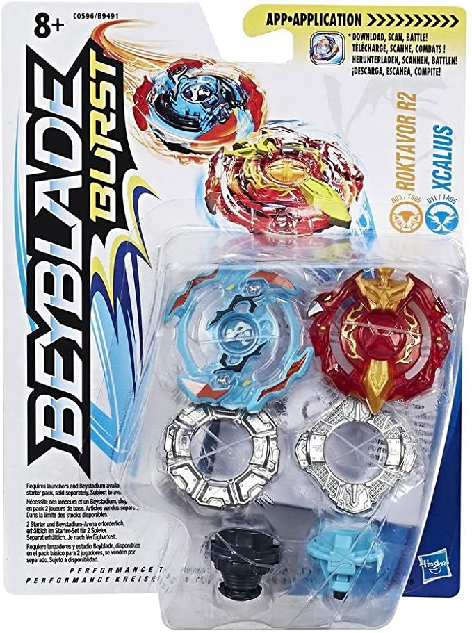 Beyblade - Burst Dual Pack Roktavor R2 & Xcalius (Hasbro B9491 ...