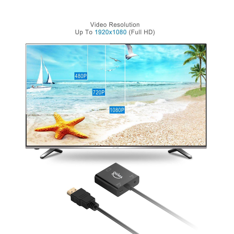 Conversor de HDMI a VGA con puerto de Audio, conector chapado en ...