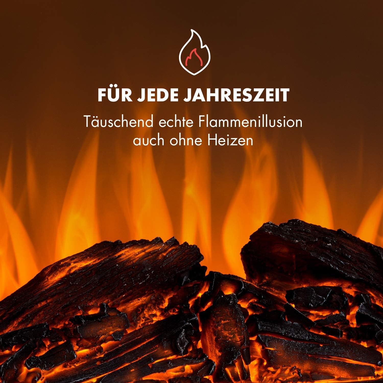 Fernbedienung E-Kamin,Timer Klarstein Aosta Light /& Fire Elektro-Kamin mit Flammeneffekt MDF-Geh/äuse Thermostat adaptive Startsteuerung wei/ß Elektrischer Kamin,1000 oder 2000 Watt
