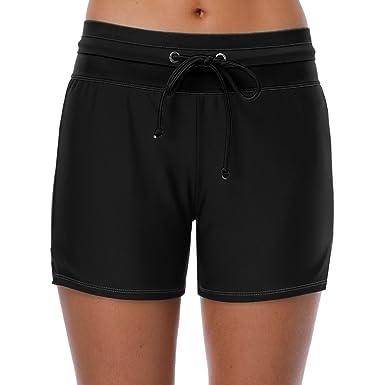 9b2dc103b0 CharmLeaks Womens Black Swimming Shorts Boyleg Swim Boardshorts Swimsuit  Bottoms