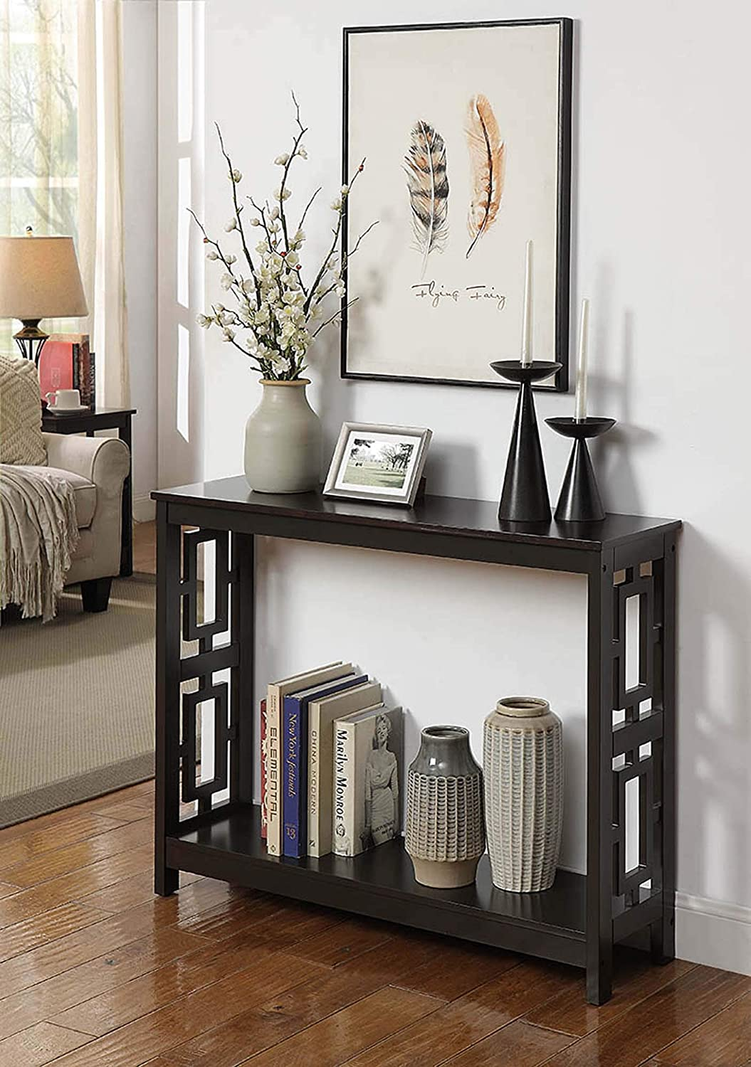 Convenience Concepts Town Square Console Table, Espresso