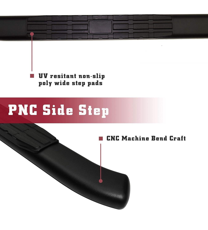 TAC Side Steps Running Boards Fit 2019-2020 Chevy Silverado//GMC Sierra 1500 2020 Silverado//Sierra 2500 3500 Double Cab Truck Pickup 4.25 Oval Bend Black PNC Side Bars Step Rails Nerf Bars 2pcs