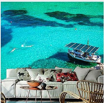 Los Murales 3D Personalizados, España Mar Barco A Motor San Miguel Ibiza Naturaleza Fondos De Pantalla, Sala De Estar Sofá Tv Pared Pared Papel De La (W)250x(H)175cm: Amazon.es: Bricolaje y herramientas