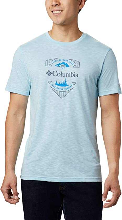 Columbia Nelson Point Graphic Short Sleeve tee Camisa, Hombre: Amazon.es: Deportes y aire libre