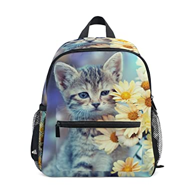 Image Unavailable. Image not available for. Color  ALAZA Cute Little Kitten  Daisy Kids Preschool Backpacks ... 0876d55c815aa