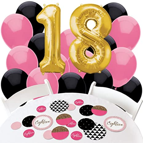Amazon Big Dot Of Happiness Chic 18th Birthday