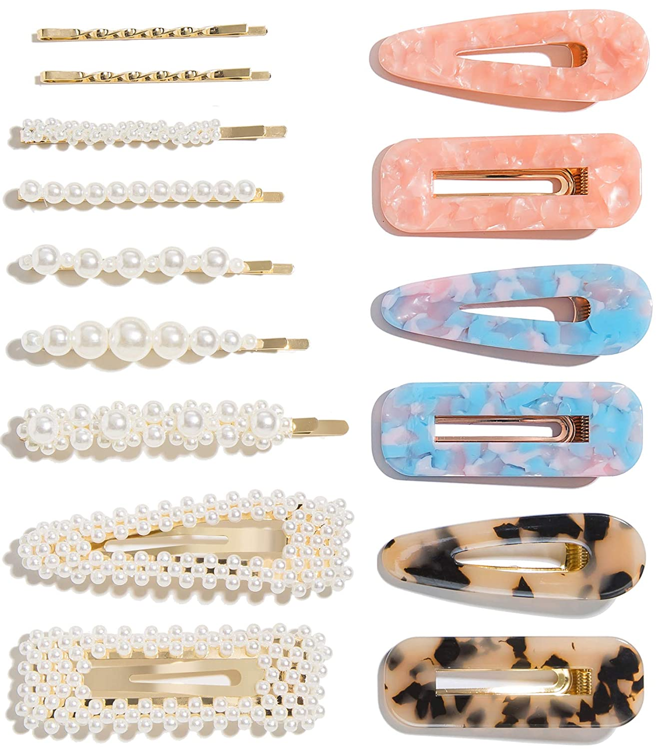 Womens Girl Acrylic Hair Clips Hairpin Barrette Stick Bobby Pin Hair Accessories