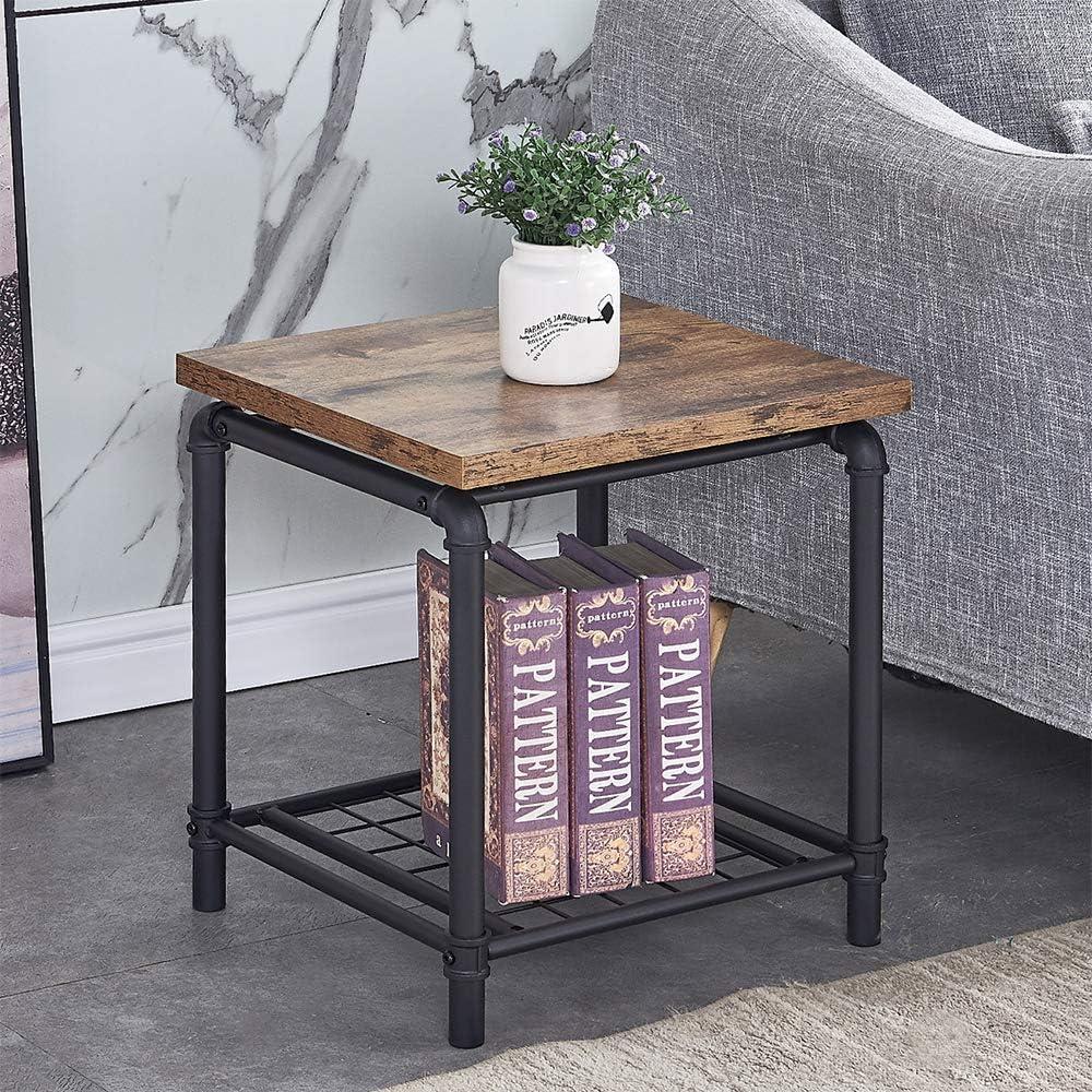 - Amazon.com: 2-Tier Vintage Coffee Table, Retro Industrial End