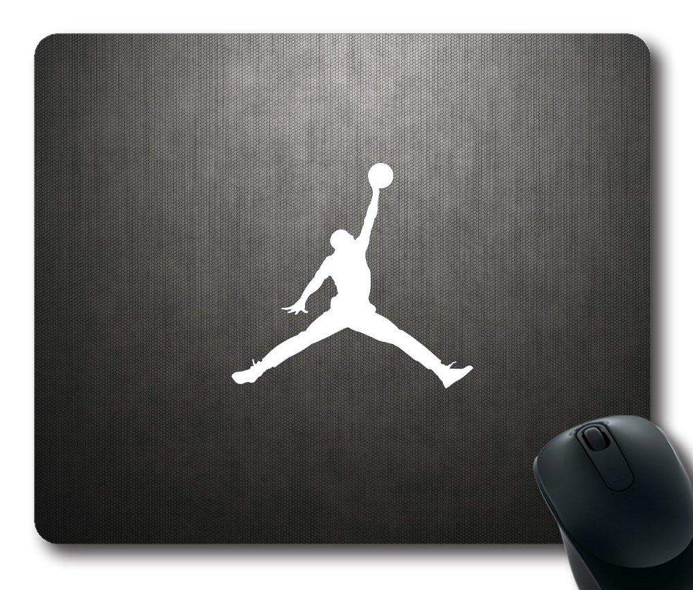 Michael Jordan Jumpman Logo Sport Mouse Pad Customized Rectangle Mousepad Diy By Bestsellcase