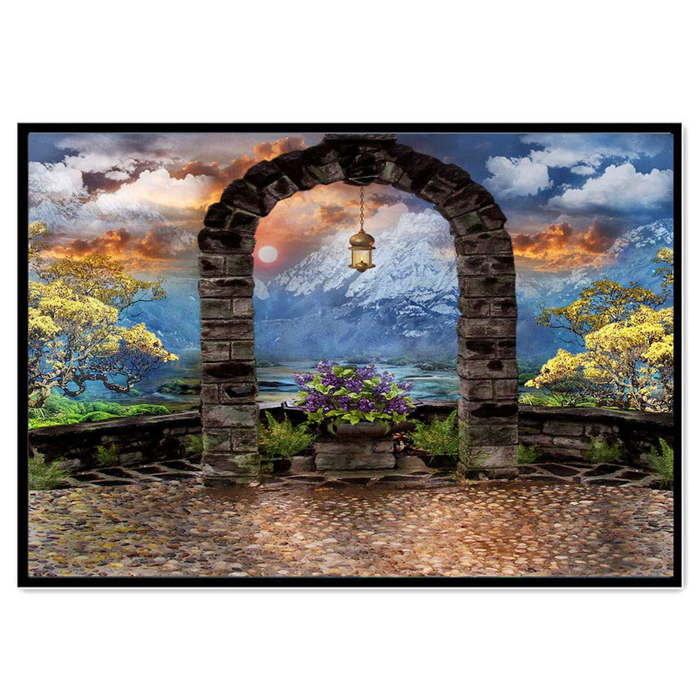 Kingko® DIY 5D Diamond Painting Set, Nature Art Landscape Decoration Cross Stitch Embroidery Set - Rhinestone Sticker Home Wall Decoration Gift, 40X30CM (A)