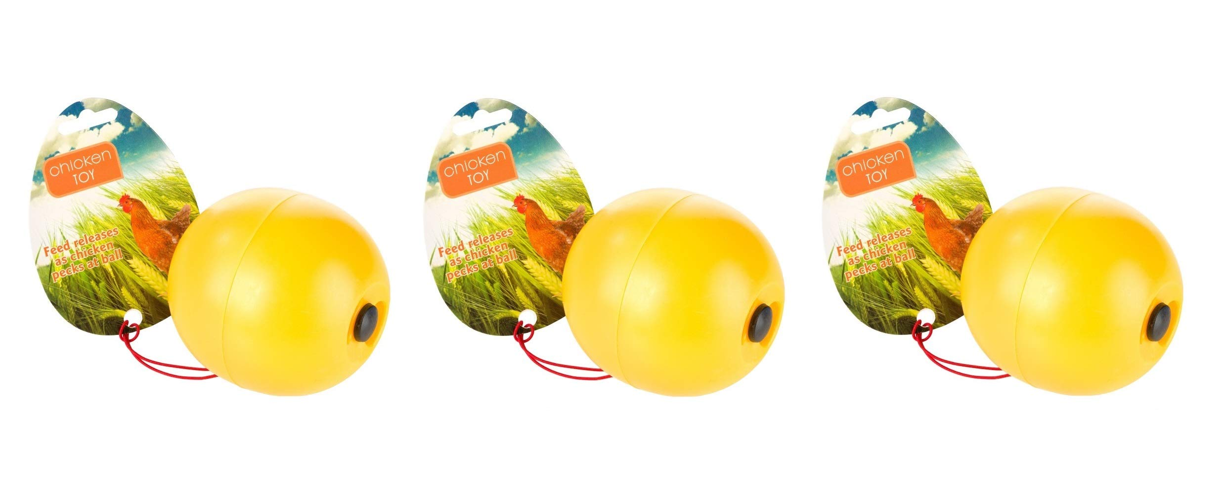 Manna Pro 3 Pack of Chicken Toys, Balls Release Feed as Chickens Peck by Manna Pro