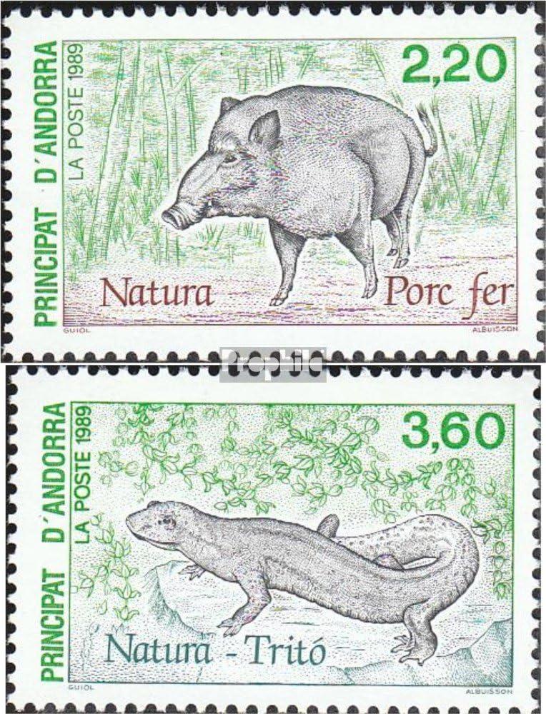 Amphibien // Reptilien // Saurier 1989 Naturschutz kompl.Ausg. Briefmarken f/ür Sammler Franz/ösische Post 403-404 Prophila Collection Andorra