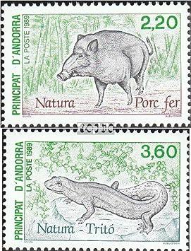 Prophila Collection Andorra - francés Correos Michel.-No..: 403-404 (Completa.edición.) 1989 conservación (Sellos para los coleccionistas) Anfibios / Reptiles / Dinosaurio: Amazon.es: Juguetes y juegos
