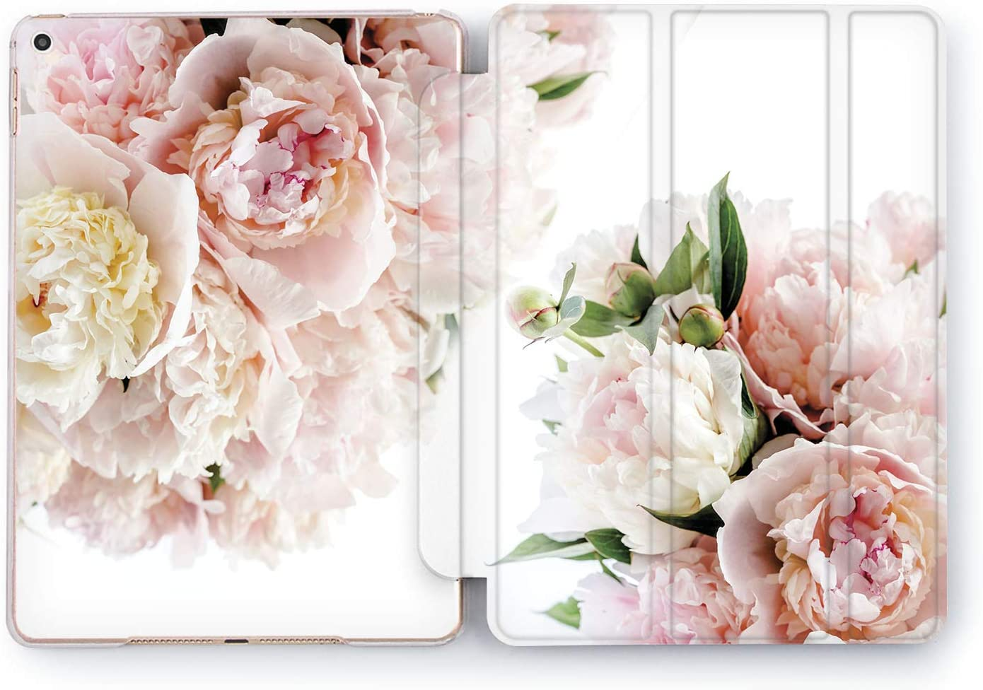 Wonder Wild Case Compatible with Apple iPad Cover Painted Rose Pro 9.7 inch Leaves Pastel Flower Pink Mini 1 2 3 4 Air 2 10.5 12.9 Tablet 11 10.2 5th 6th Plants Red Colorful Pattern Floral Watercolor