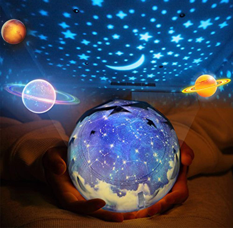 5 style modifiable Vivant Pi/èce F/ête D/écoratif Lumi/ère dhumeur pour Des gamins Enfant Chambre B/éb/é Veilleuse Lampe Aliment/é par USB//Piles exploit/&eacu Tournant /Étoile Projecteur de lumi/ère