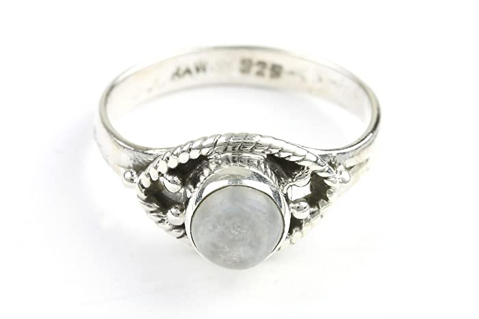 Amazon.com: Evil Eye Ring, Sterling Silver Moonstone Ring ...