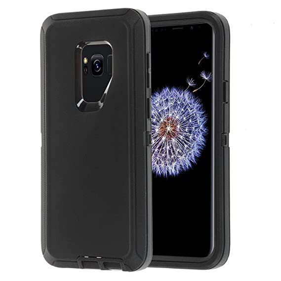 new concept 97ceb 08b37 Samsung Galaxy S9 Plus/S9+Case,Full Protection Heavy Duty Armor 3in1 Rugged  Shockproof Drop-Proof Scratch-Resistant Tough Shell for Samsung Galaxy S9  ...