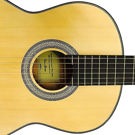 Coban Guitars – Guitarra acústica clásica sólo con EQ (Natural ...