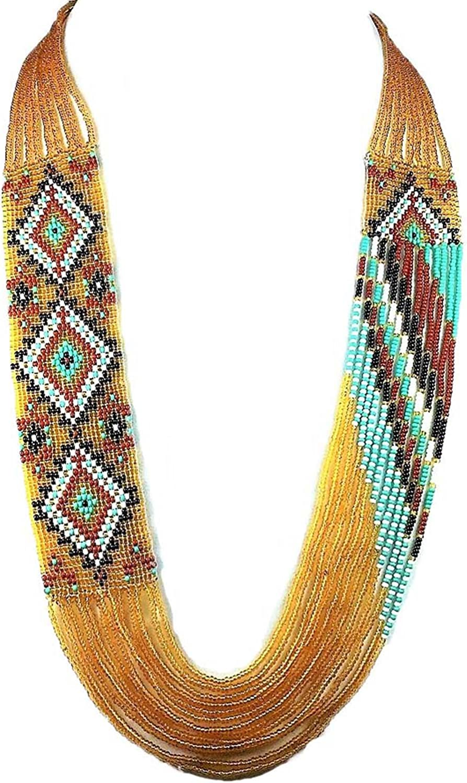 128 Tribal NecklaceEarring Set