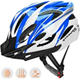 Strauss Cycling Helmet, (White/Blue)