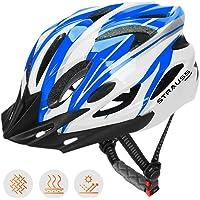 Strauss Cycling Helmet, (White/Blue)