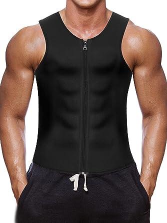 2 Mens Regular Sleeveless No Pocket Vest Waist Trainer