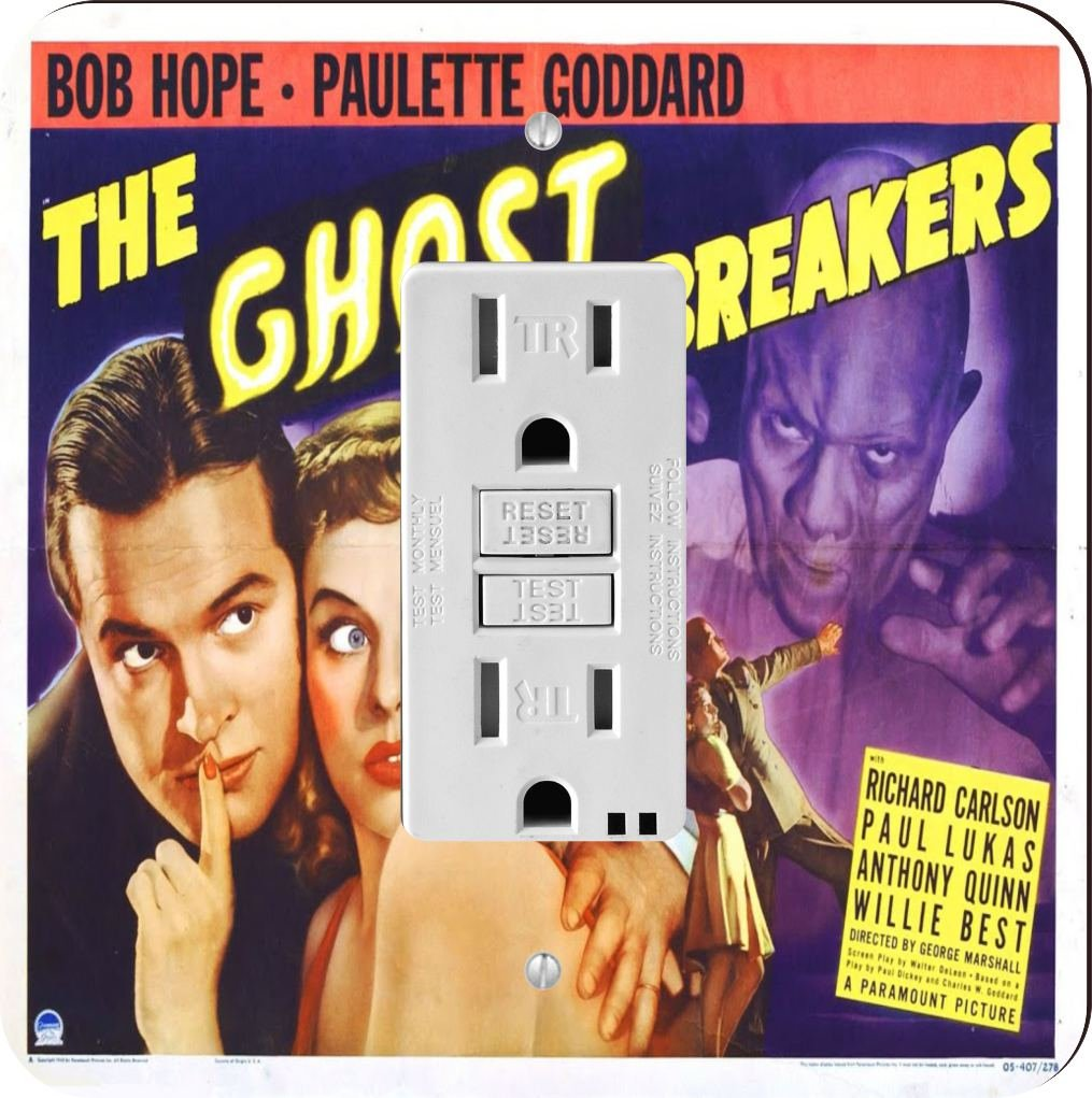 Rikki Knight 3710 Vintage Movie Posters Art Ghost Breakers 2 Design Light Switch Plate