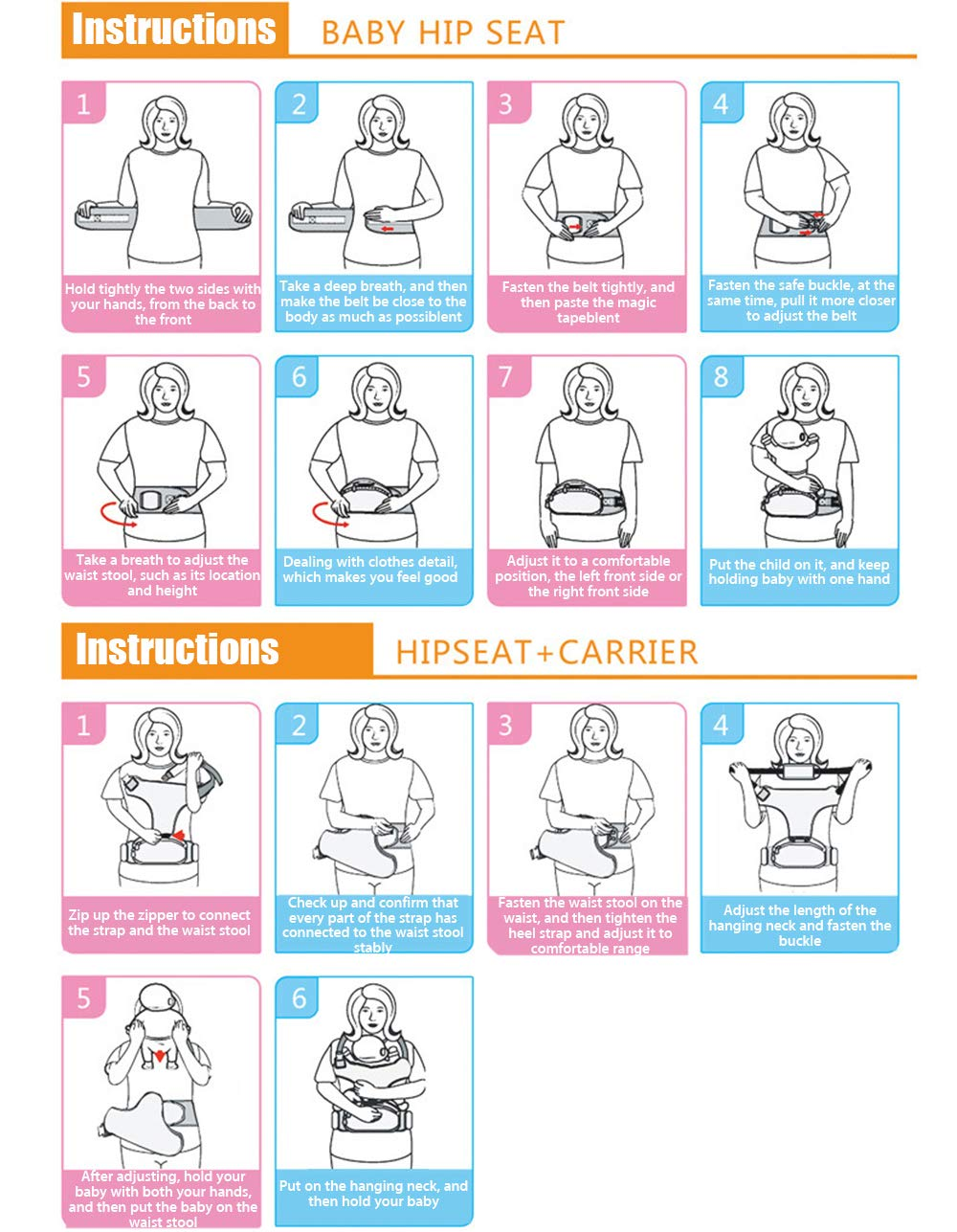 Baby Carrier with Hip Seat Ergonomic Baby Carrier Backpack Purple Baby Wrap Carrier Baby Hip Seat Waist Stool Baby Carriers Front and Back for Men and Women