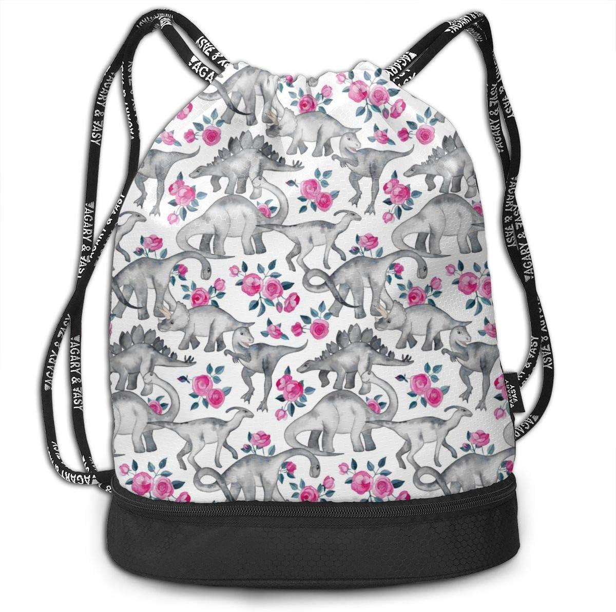 Drawstring Backpack Dinosaurs Pattern Bags
