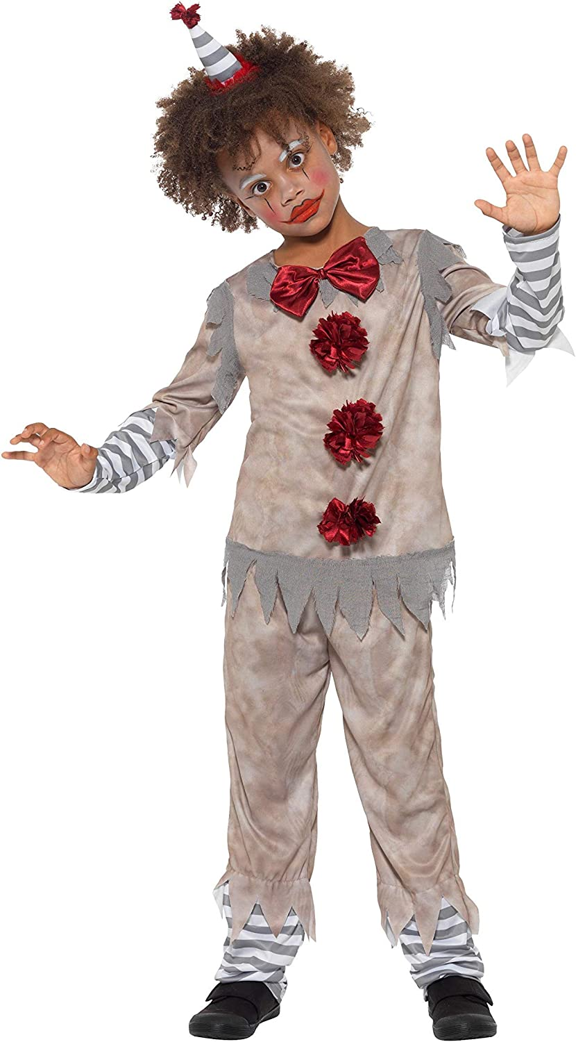 Smiffys Clown Boy Costume Disfraz de payaso vintage, color gris y ...