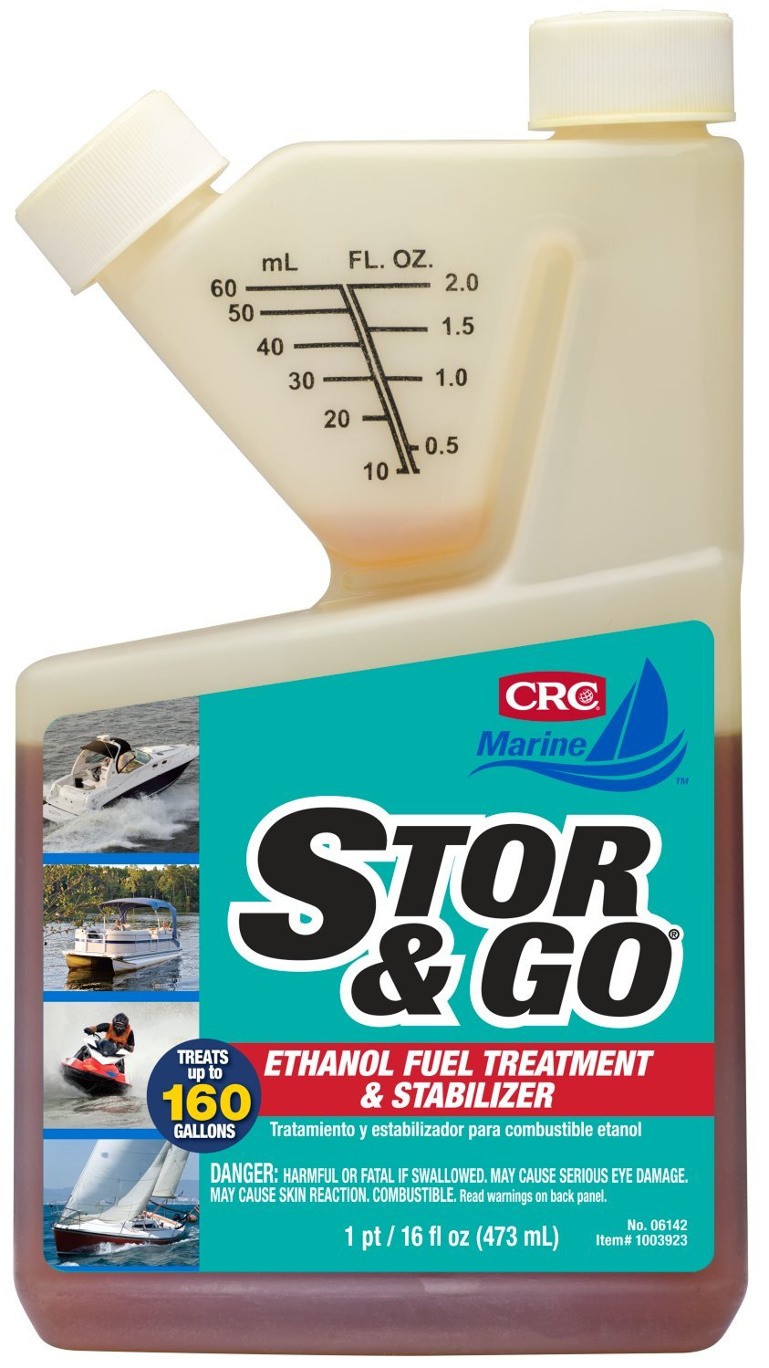 CRC 06142 STOR & GO Ethanol Fuel Treatment & Stabilizer, 16 oz