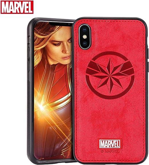 TinPlanet Marvel Avengers Endgame iPhone XR Case, Captain Marvel (Red)