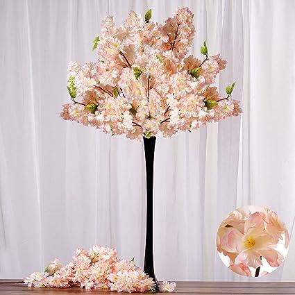 Amazon.com: BalsaCircle 4 pcs Peach Silk Cherry Blossom Bushes ...